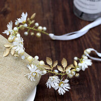 Girl Flower Headband Floral Crown Hair band Garland Wedding Beach Bride New