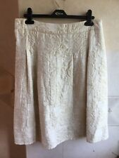 Ladies Cream Gold Colour Floral/Jacquard Skirt Size 12 by George