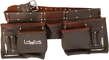 LAUTUS Oil Tanned Leather Tool Belt/Pouch/Bag, Carpenter, Construction, Framers,