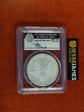 2008 W BURNISHED SILVER EAGLE PCGS MS69 REVERSE OF 2007 MERCANTI FIRST STRIKE