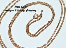 "9CT ROSE GOLD VINTAGE CURB LINK CHAIN LOVELY QUALITY 27"" LONG"