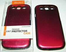 Reiko Hard Shell case for Samsung Galaxy S III (i9300) Brushed Red finish