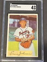 1954 Bowman #144 Ernie Johnson SGC 4 New Label Graded