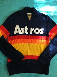 Men's Mitchell And Ness Cooperstown Collection Houston Astros Jacket Sz L