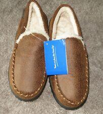 Home Top Slippers Brown Loafer Style Men's 9 D