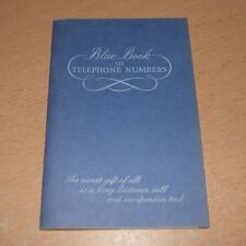 Vintage 1961 Illinois Bell Blue Book of Telephone Numbers USA NEW!