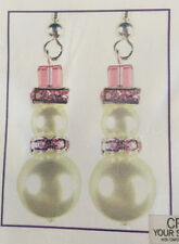 Jilly Bead Crystalmas Snowman Earring Jewelry Making Kit Holiday Purple Pink