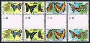 Sierra Leone 447-450 gutter,MNH.Mi 574-577. Butterflies,1979.Fig tree blue