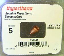 Hypertherm Genuine Powermax 45 Gouging Nozzles 5 Pack 220672