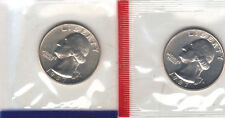 1987 P+D WASHINGTON QUARTER UNCIRCULATED STILL IN MINT CELLO L@@K