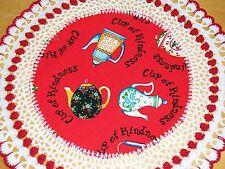 New Handmade Round Teapot Crochet Doily