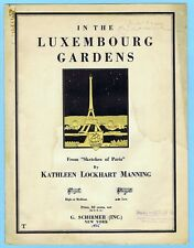 IN THE LUXEMBOURG GARDENS by KATHLEEN MANNING (1925)