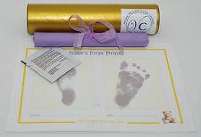 NEW MUM TO BE NEWBORN BABY FOOTPRINT MAGIC INKLESS WIPE GIFT SET KIT