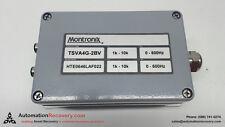 MONTRONIX TSVA4G-2BV VIBRATION AMPLIFIER 1K-10K 0-600HZ, NEW* #126207