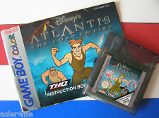 ATLANTIS THE LOST EMPIRE + INSTRUCTION BOOKLET - GAME BOY COLOUR - GBC