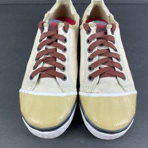 Sorel Sentry Shoes Womens 10 Mens 8 Lace Up Canvas Rubber Toe Comfort