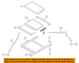 FORD OEM Sunroof-Shield DS7Z54500A66A