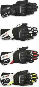Alpinestars SP-8 V2 Gloves - Motorcycle Street Bike Riding Leather Touch Screen