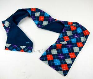 Nike Reversible Blue, Purple, Orange, and White Checkered Fleece Scarf