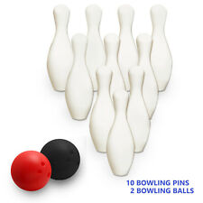 5Y+ Jumbo Bowling Set Kids Indoor Outdoor Game Bowling Pins Balls and Carry Bag