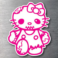 Hello Kitty Zombie Sticker quality 7 year vinyl  water & fade proof