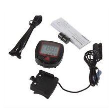 Bike Bicycle LCD Computer Odometer Speedometer Waterproof 15 Functions AH2
