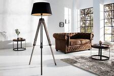 LAMPADAIRE E27 motif rétro trois pieds réglable en hauteur noir salon