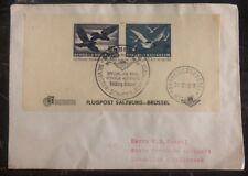 1950 Salzburg Austria Special Flight Souvenir Cover To Bruxelles Belgium