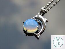 Opalite Dolphin Manmade Gemstone Pendant Necklace 50cm Healing Stone Chakra