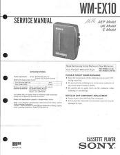 Sony Original Service Manual für WM-EX 10