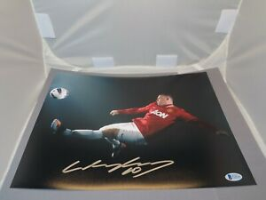 Wayne Rooney Signed Manchester United 11x14 Photo Soccer Beckett BAS COA 1B