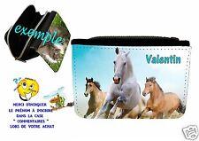 portefeuille cheval personnalisable avec prénom réf 16