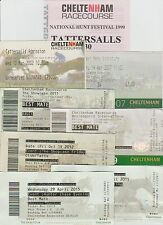 HORSE RACING 15 X CHELTENHAM RACE DAY TICKETS FROM 1996 THROUGH TO 2015