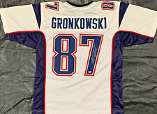 Rob Gronkowski Signed White Jersey Auto - Beckett BAS
