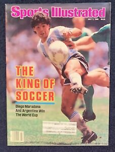 7.7.1986 DIEGO MARADONA Sports Illustrated ARGENTINA World Cup SOCCER FUTBOL
