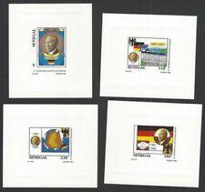 Senegal #970A-970D 1992 Konrad Adenauer imperf deluxe proof sheets (4)