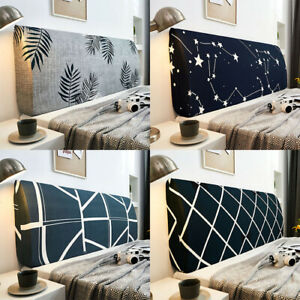 Bed Headboard Slipcover Stretch Dustproof Bedside Cover Bedroom Decor Printing