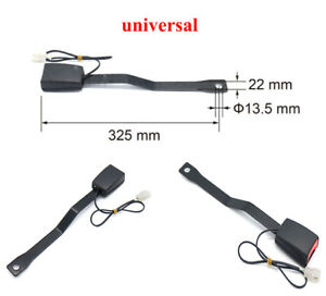 """20CM 7/8"""" Car Front Seat Belt Buckle with Connecting Gasket and Warning Wire"""