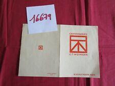 N°16679 /  dépliant carrosserie CT WEYMANN 1928-1930 environ