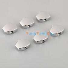 6 Pcs Guitar Metal Machine Head Mini Square Tuner Buttons for Guitar BT-15CR