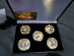 Star Wars Gold Plated 40th Anniversary Empire Strikes Back Rare Coin Set