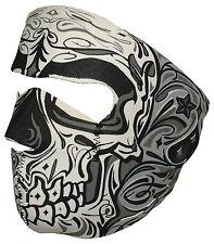Black Grey Sugar Skull Muerte Day of Dead Neoprene Face Mask Biker Ski Costume