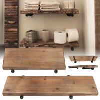 35/24'' Industrial Floating Shelves Rustic Pipe Shelf Book Towel Storage Rack US