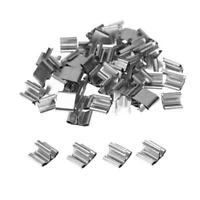 50pcs Mini DIY Wood Candle Wick Base Stand Iron Clip Set for Candle Making Tool