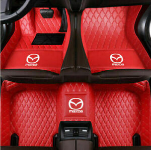 For All Mazda 2 3 5 6 8 CX-3 CX-4 CX-5 CX-7 CX-8 CX-9 MX-5 Luxury Car floor mats