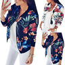 Damen Blumen Jacke Übergangsjacke Bomberjacke Freizeit Blouson Mantel Outwear 42