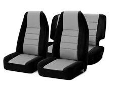 Smittybilt Front & Rear Neoprene Seat Covers Gray for Jeep Wrangler YJ 91-95