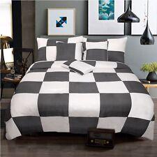 New 6 Pieces Queen Size Bed Doona Quilt / Comforter Set Coverlet 220x220cm Check