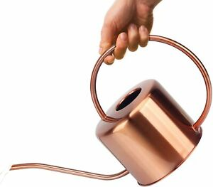 5Decorative Copper Colored 40oz Watering Can - Easy Pour Gooseneck Spout