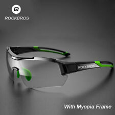 RockBros Cycling Clear Photochromatic Glasses Goggles Sporting Sunglasses Green